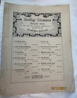 Vintage Sheet Music - German Music