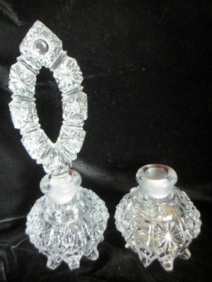 Pressed Glass Perfume Bottle