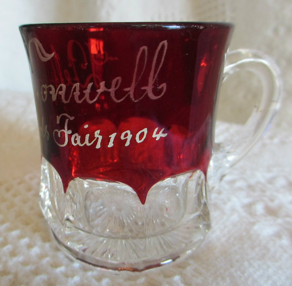 1904 St. Louis World's Fair Ruby Glass Cup