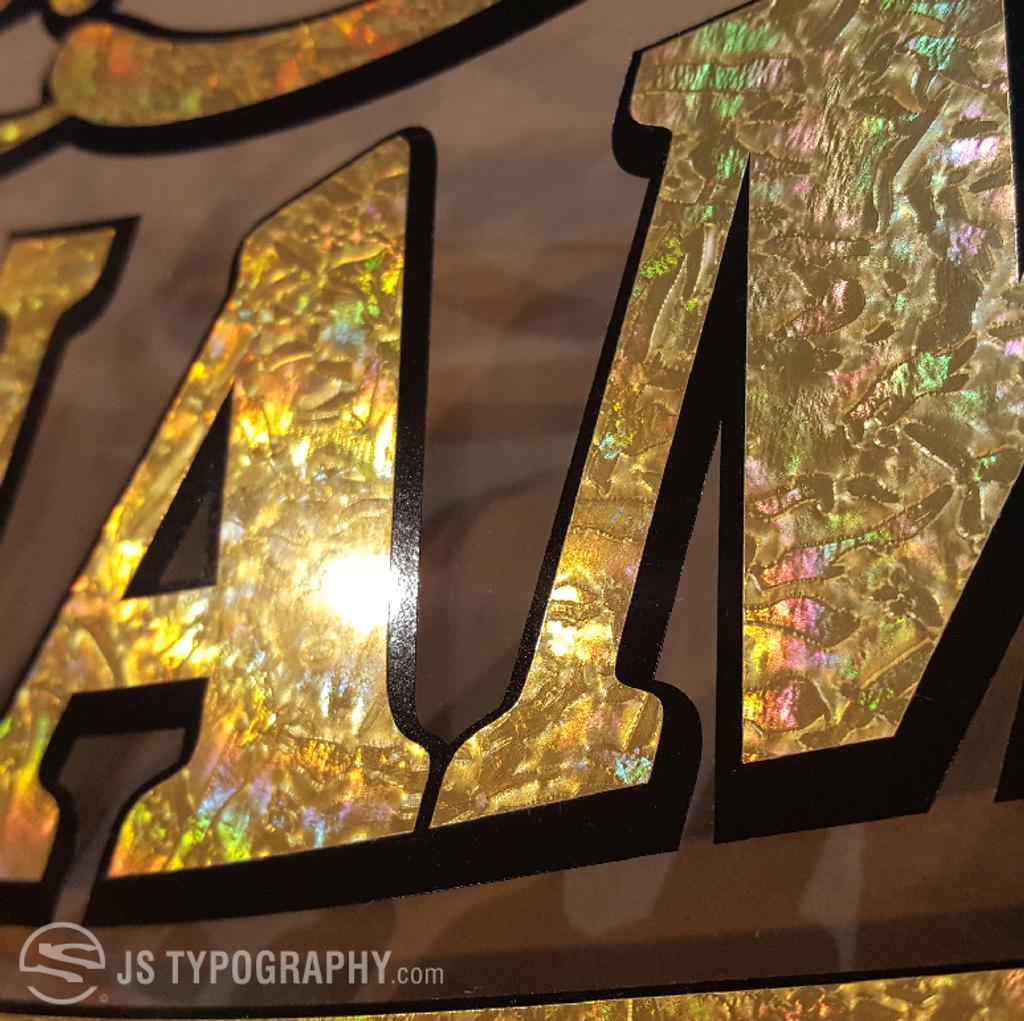 Gold leaf window decals