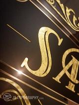 Gold leaf business signs