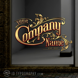 Gold window signs