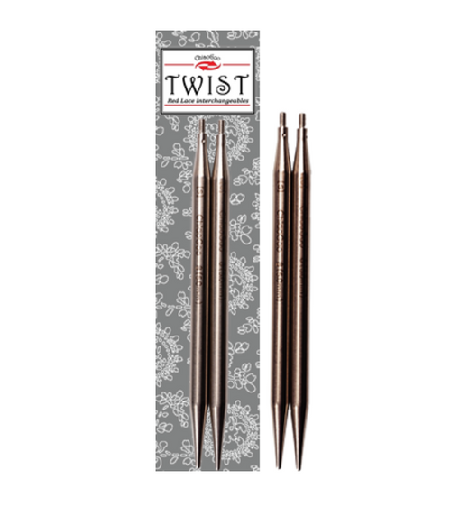 """Chiaogoo Stainless Steel 5"""" Red Lace Twist Interchangeable Tips"""