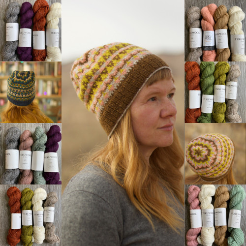 Four Color hat Kit - Tukuwool + Peavine