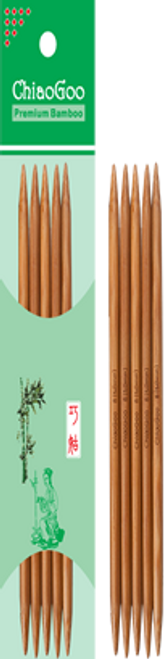 "ChiaoGoo Bamboo 6"" Double Pointed"
