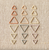 Coco Knits Triangle Earth Tones Stitch Markers