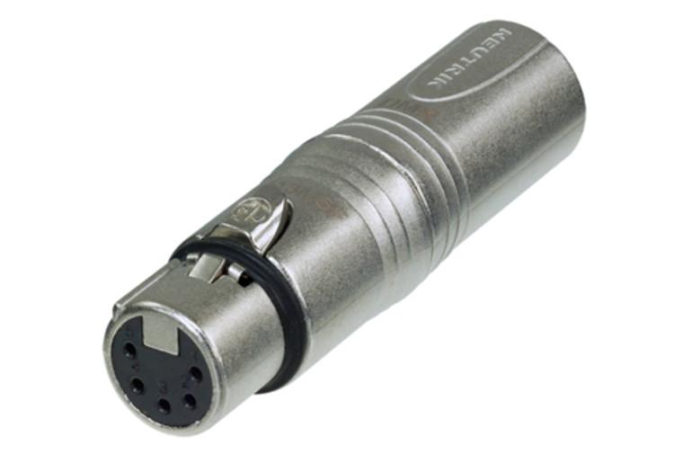 DMX Adapter, 3 Pin M XLR to 5 Pin F XLR