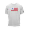 Tri-blend short sleeve graphic t-shirt with Marucci flag print