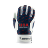 Youth USA Softball Navy Batting Gloves