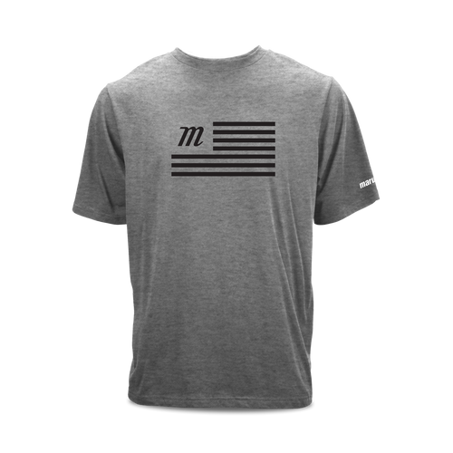 Youth short sleeve 100% cotton graphic t-shirt with Marucci flag print