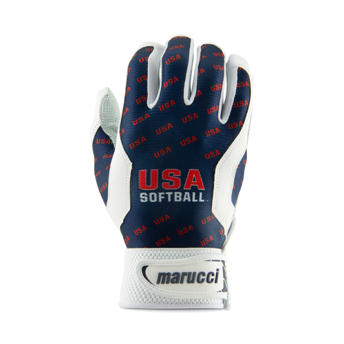USA Softball Navy Batting Gloves