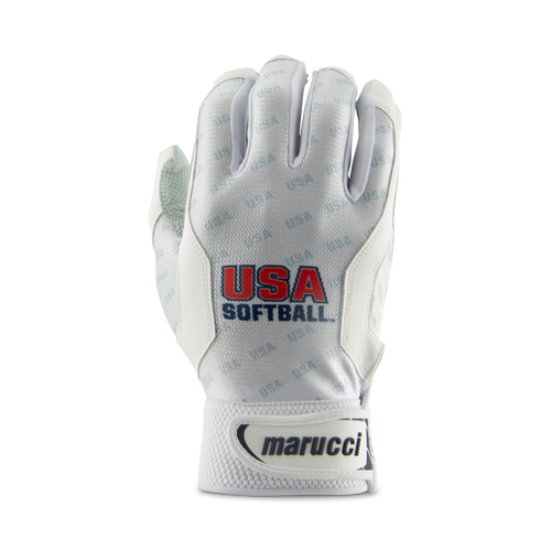 Youth USA Softball White Batting Glove