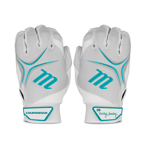 BL26 Fastpitch Batting Gloves were designed to meet the needs of professional softball player Bailey Landry. These signature FX batting gloves feature a synthetic palm that offers more flexibility.