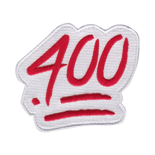 The Red and White .400 Batting Average Patch