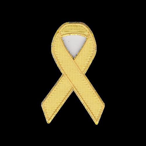 Yellow Awareness Ribbon Patch