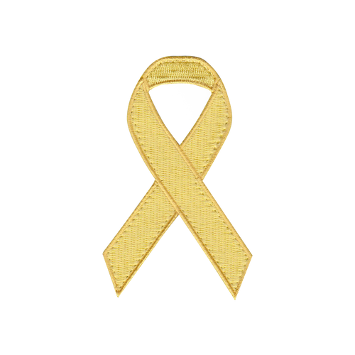 Yellow Awareness Ribbon Patch