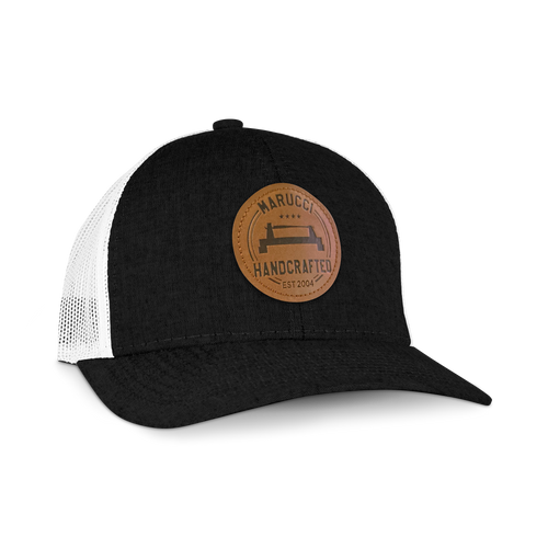 Lathe Leather Patch Trucker Hat