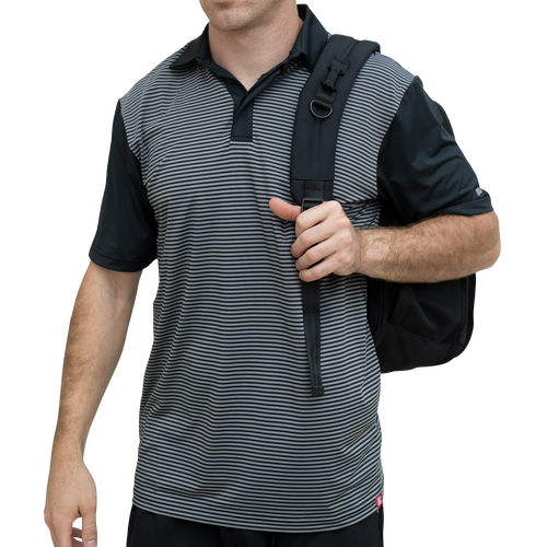 Men's Striped Performance Polo