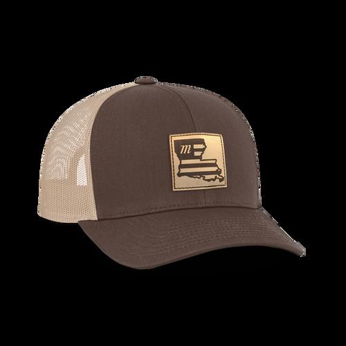 LA Leather Patch Trucker Hat