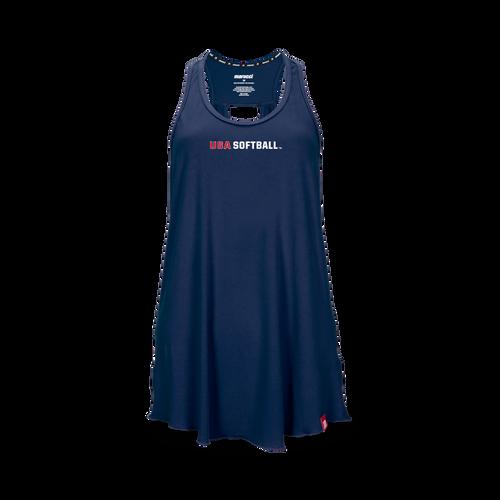 Women's USA Softball Keyhole Tank