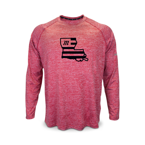 Custom Heathered Long Sleeve Performance Tee