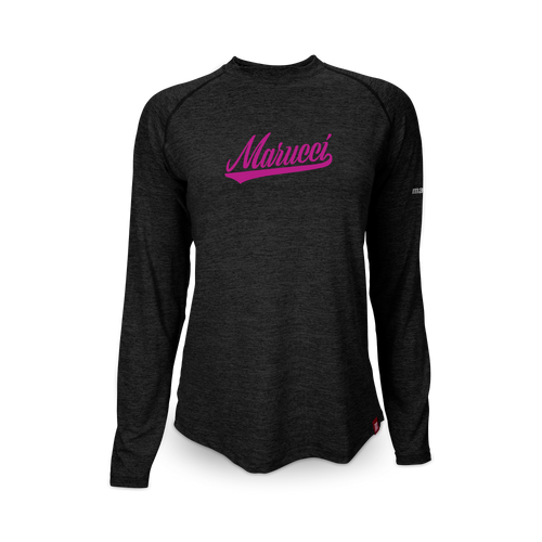Custom Women's Heathered Long Sleeve Performance Tee