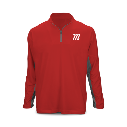 'M Logo' Long Sleeve 1/4 Zip Performance Top