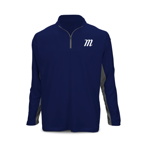 Youth 'M Logo' Long Sleeve 1/4 Zip Performance Top