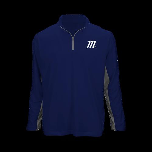 Youth 'M Logo' Long Sleeve 1/4 Zip Performance Top