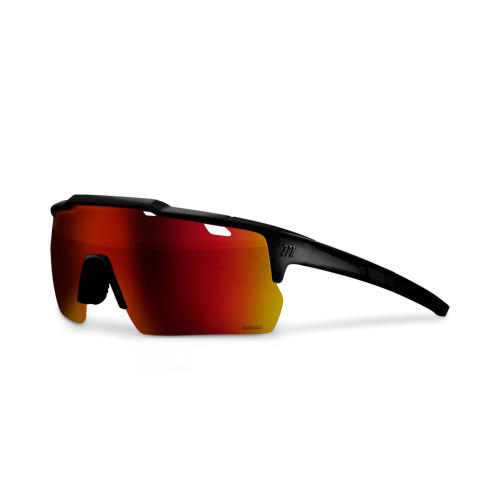 Shield Performance Sunglasses - Black Translucent