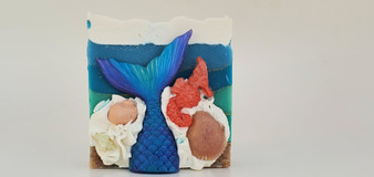 """Aria"" Mermaid Tail Handmade Soap"