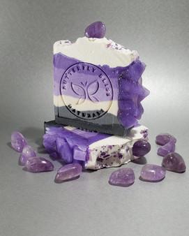 Amethyst Geode Crystal Soap (Lavender & Sage)