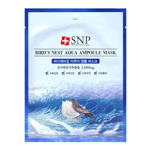 SNP Bird's Nest Aqua Ampoule Mask (10+1 Pieces)