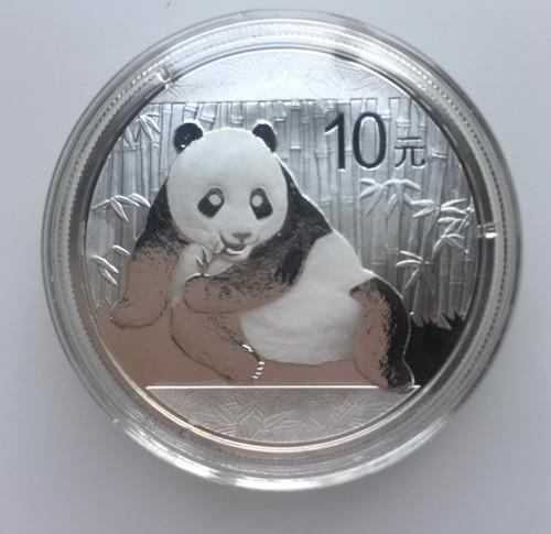 2015 CHINA Panda Silver Coin  1 Oz 999 silver good coin condition
