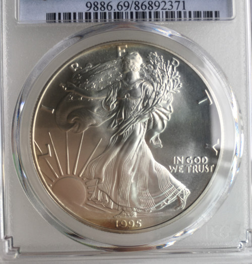 1995 AMERICAN SILVER COIN PCGS MS69