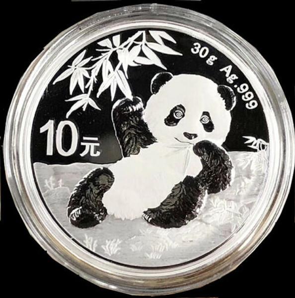 Free shipping 2020 30 GRAM CHINA PANDA 999 SILVER COIN BU