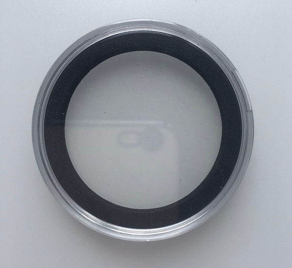 Free Shipping 20 PCS Air-Tite High Relief 38mm BlackRing Coin Capsules for 2oz Queen's Beast