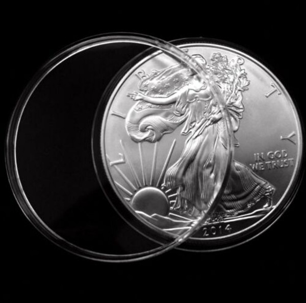 Free Shipping 20 PCS 40.6 mm Coin Capsule Direct Fit For American Silver Eagle 1 oz