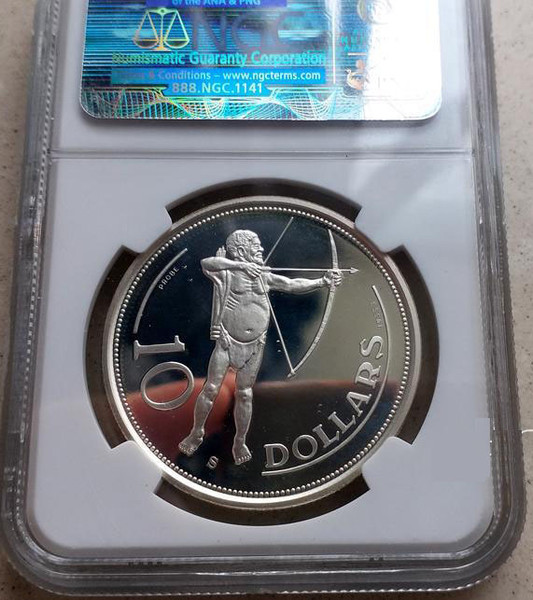 Rare Namibia 1990 Native 10 Dollars Independence  Silver Coin,Proof  ,NGC PR68  Ultra Cameo