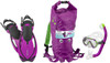Head Sea Pals Jr Kids Mask Dry Snorkel Fins Set Diving Snorkeling Pink Squid