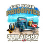 Amphibious Outfitters T-Shirt - Get Your Priorities - D0211W - Scuba Diving