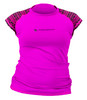 Akona Short Sleeve Women's Rash Guard Scuba Diving, Snorkeling, Magenta