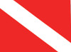 "Scuba Diving Decal Sticker - Dive Flag - 8.5"" x 11"""