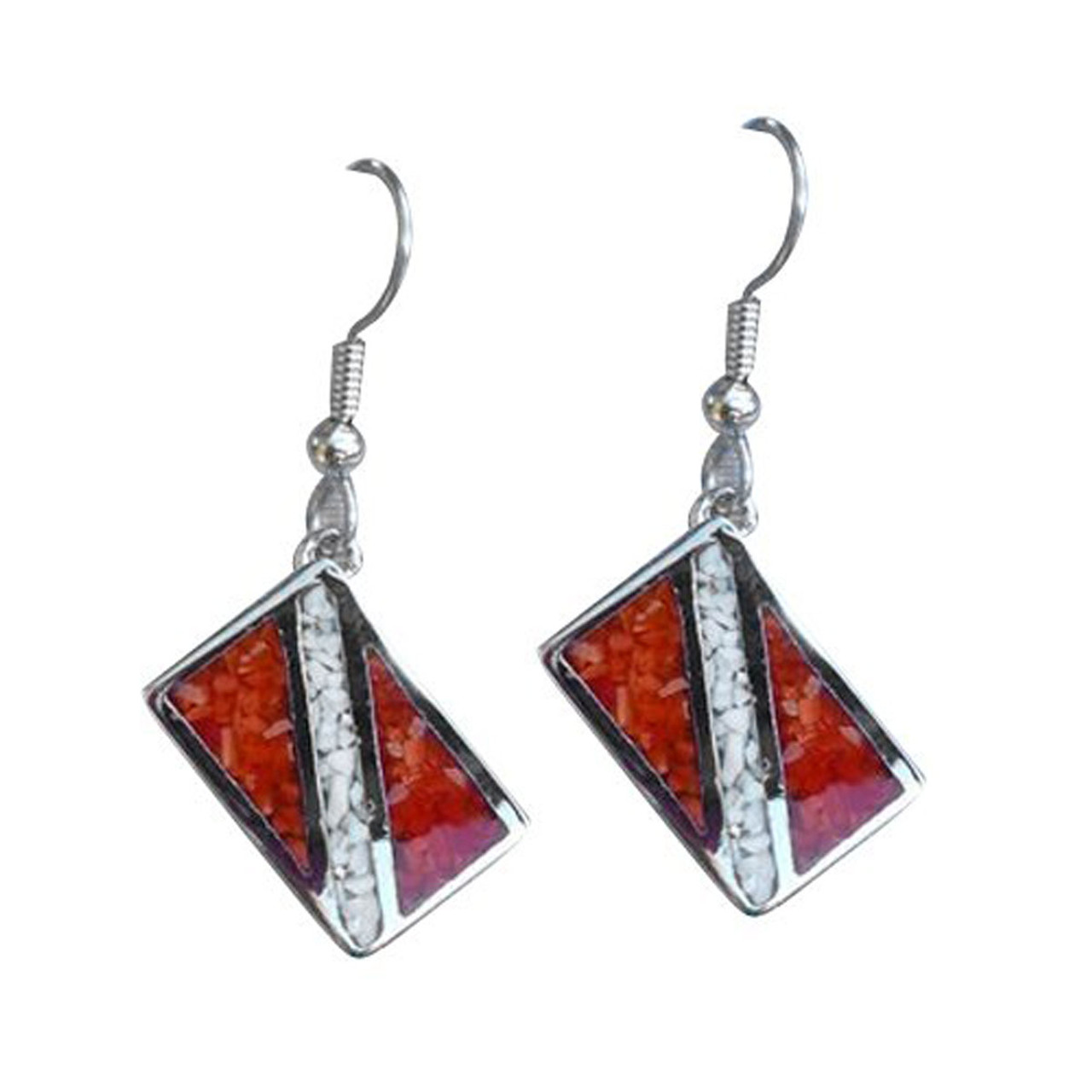 Dive Flag Earrings Scuba Diving Diver Jewelry