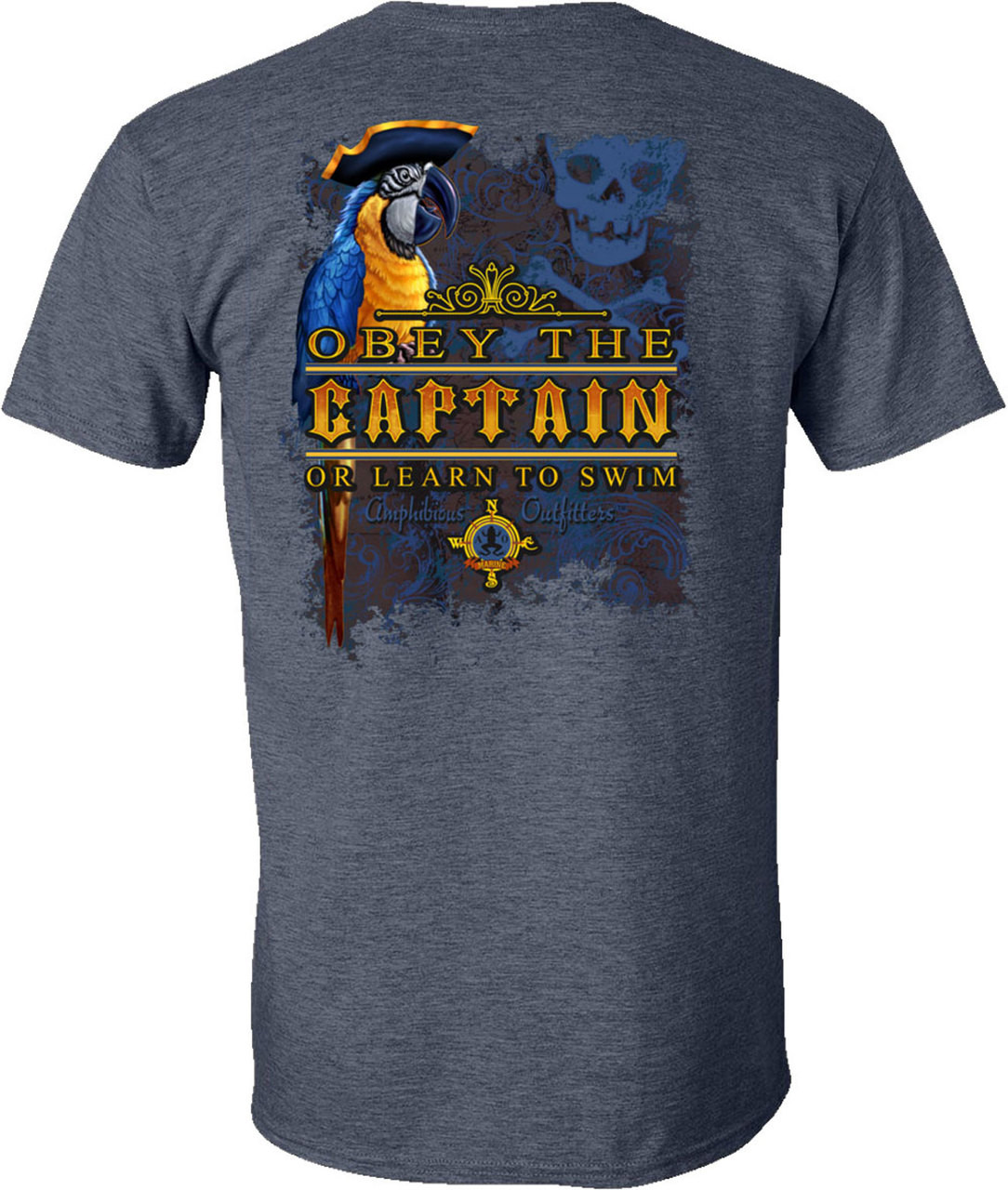 Amphibious Outfitters T-Shirt - Captain's Law HN- Obey the Captain