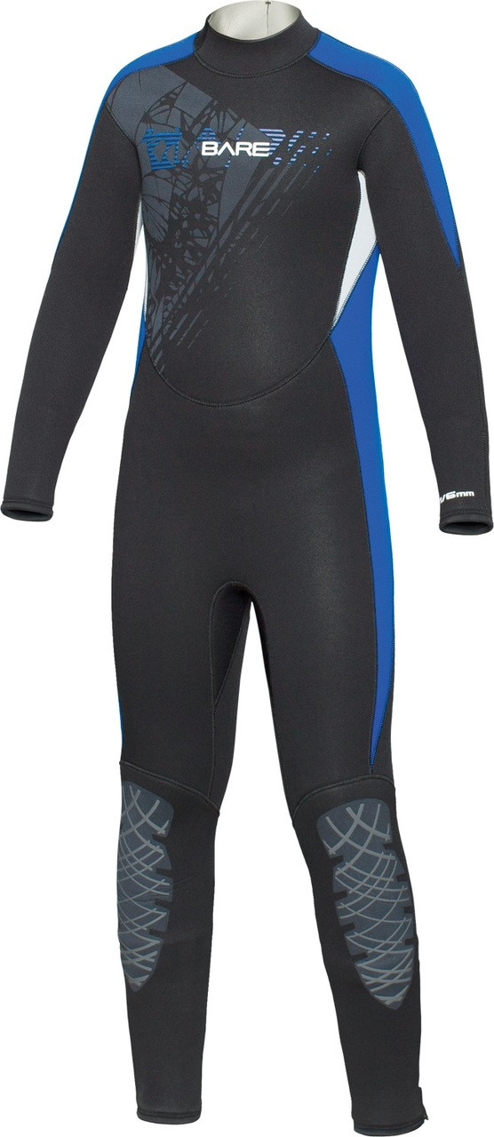 Bare Youth Kids 7/6mm Manta WetSuit Full Sun Guard Swim