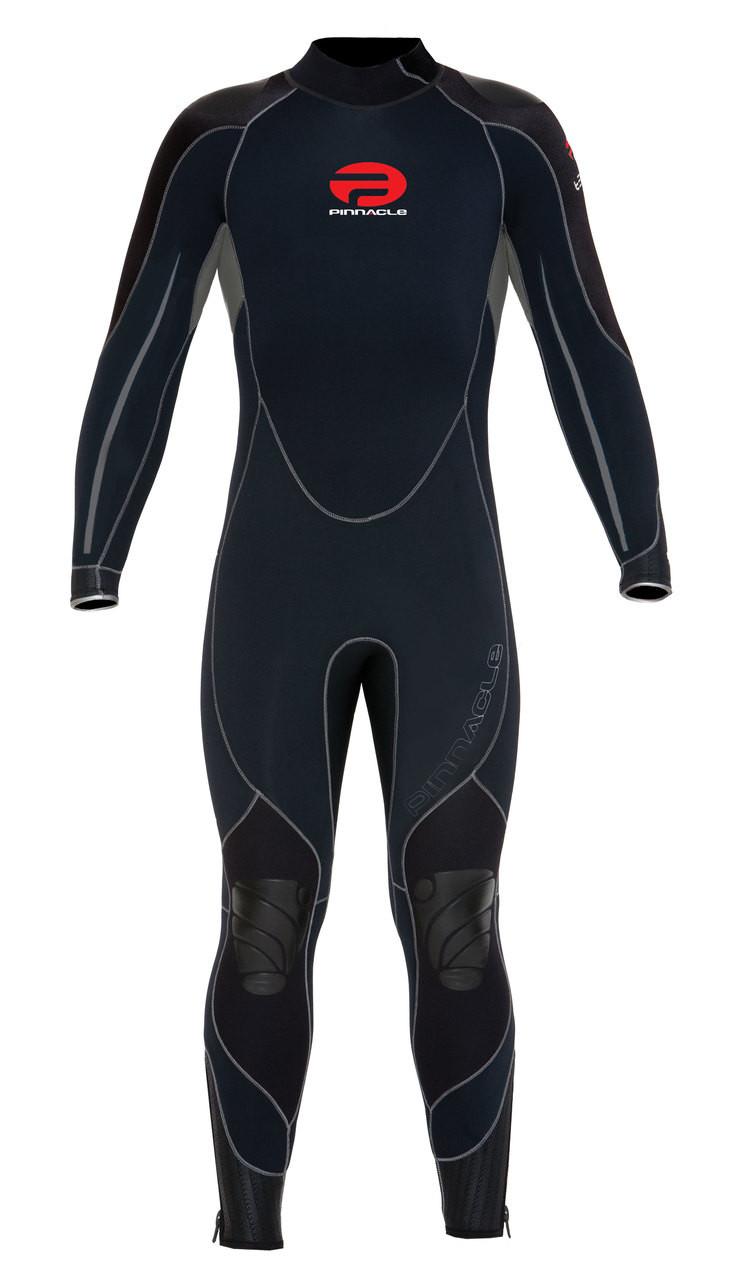 Pinnacle Tempo XT 3mm Full Scuba Diving Wetsuit Men's Black