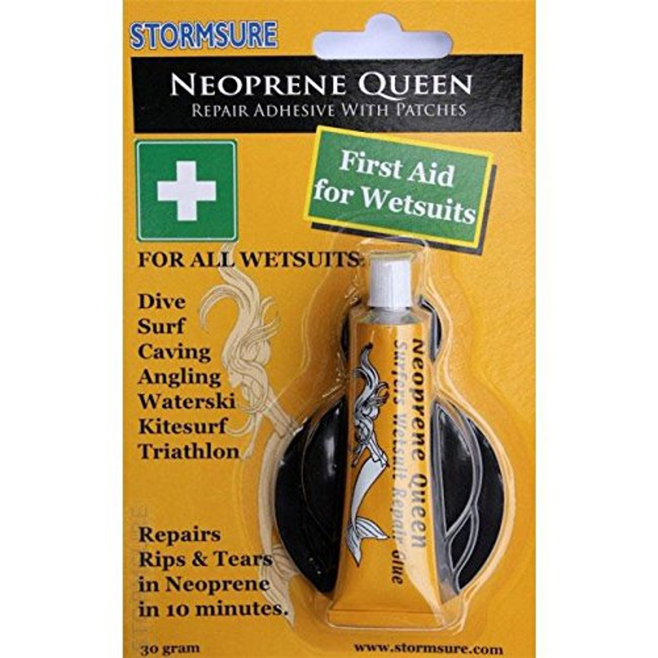 Neoprene Queen Wetsuit Repair Scuba Surf Glue Adhesive with Patches
