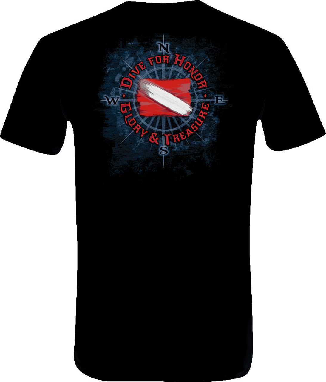 Amphibious Outfitters Scuba Diving T-Shirt - Honor & Glory - Black