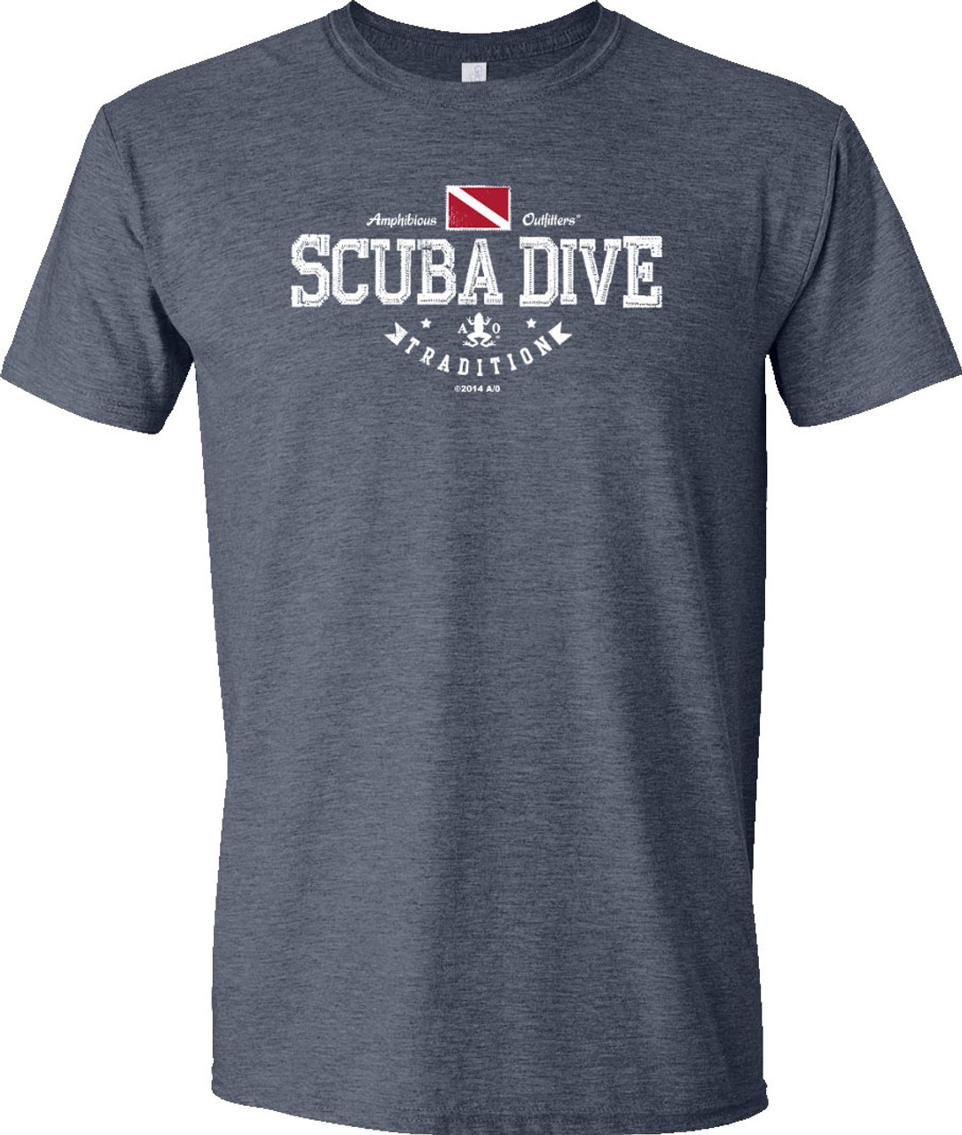 Amphibious Outfitters T-shirt - Scuba Traditions - Heather Navy
